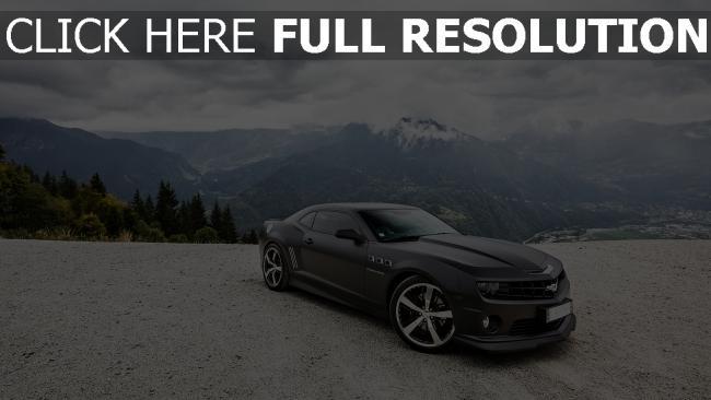 hd hintergrundbilder schwarz mountainshimmel ss chevrolet camaro wolken