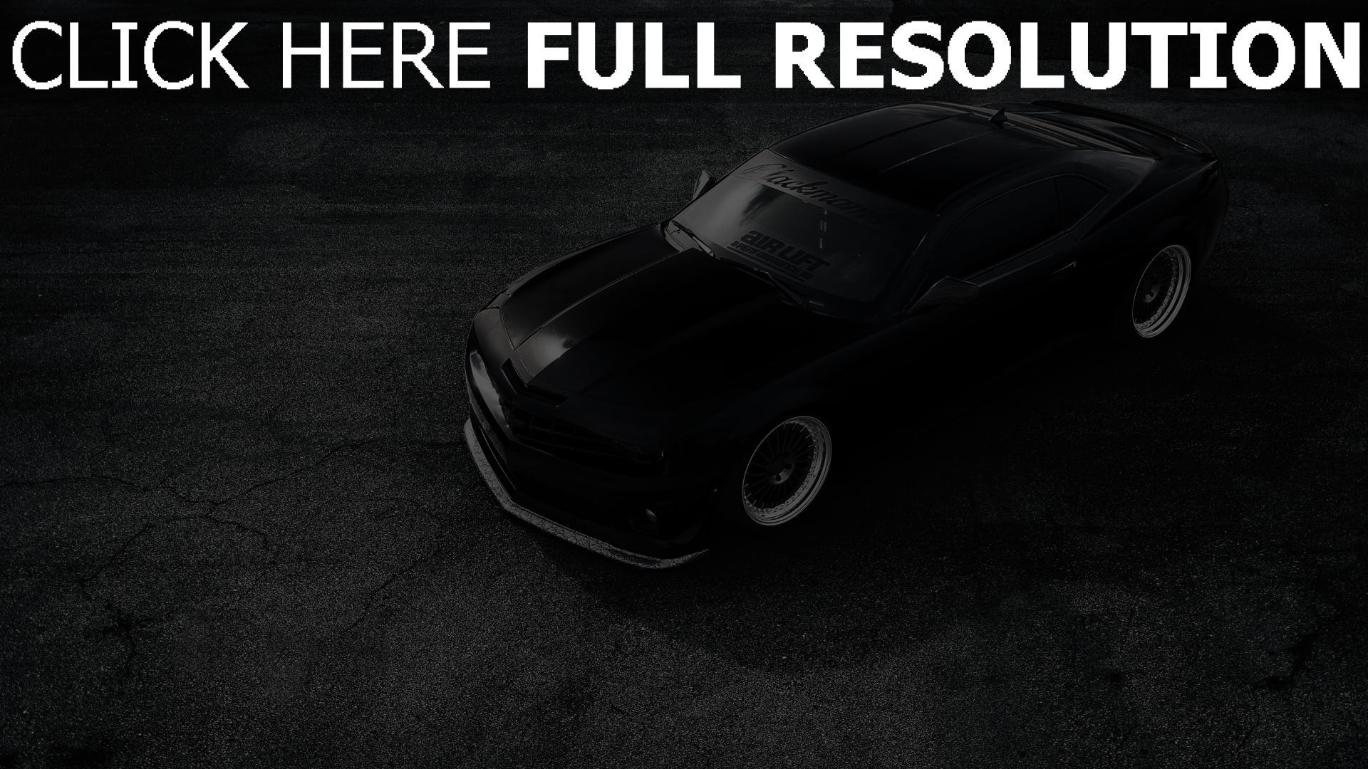 Hd Hintergrundbilder Matt Schwarz Zl1 Chevrolet Camaro