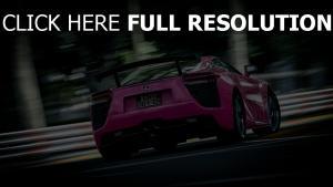 auto rückansicht blur lexus rosa sport
