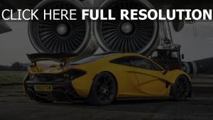 gelb supercar turbinen mclaren p1