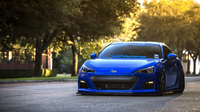 hd hintergrundbilder vorderseite coupe sport blau subaru brz auto