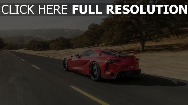 hd hintergrundbilder auto aussicht geschwindigkeit concept toyota ft-1 seite