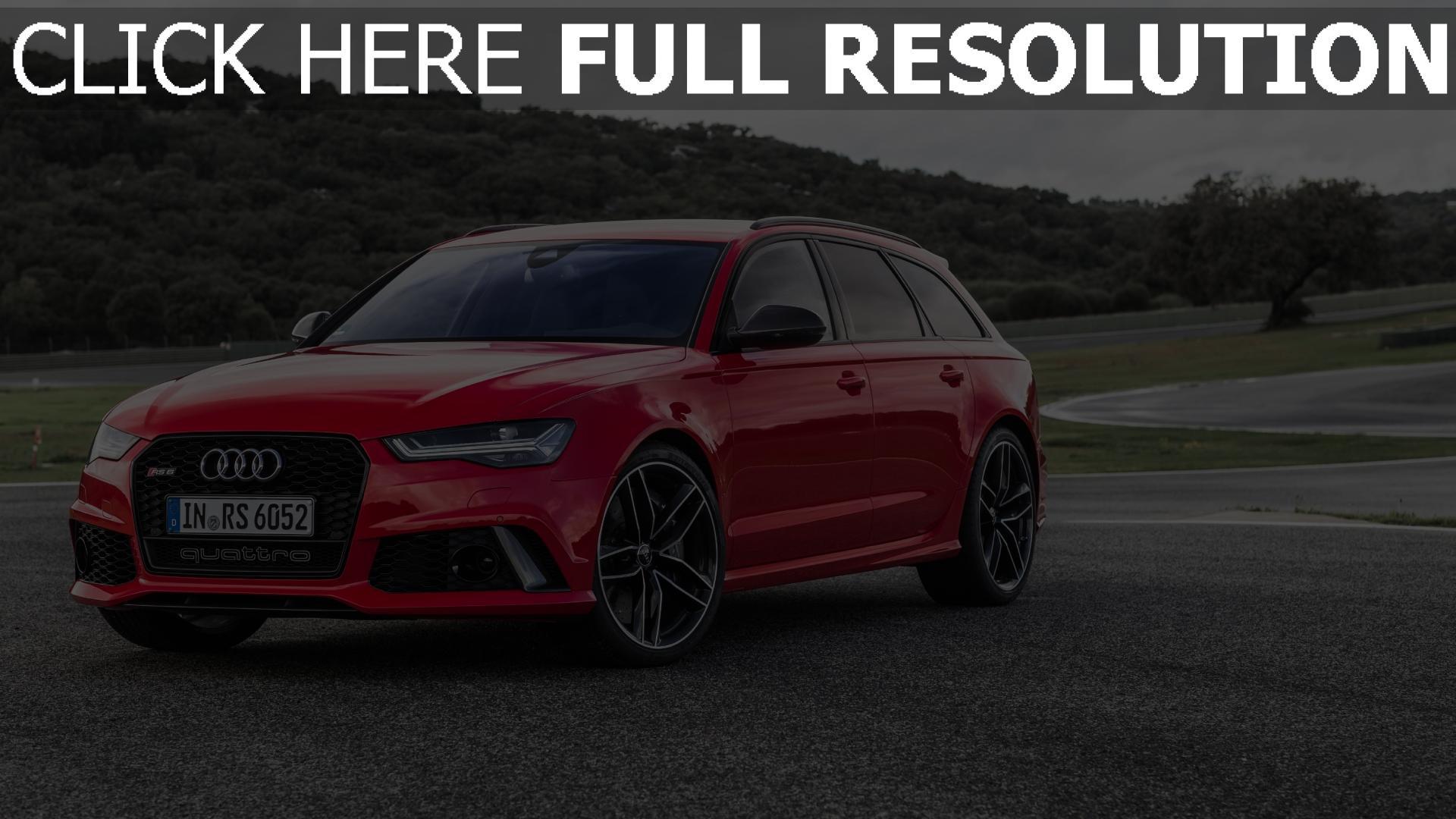 Hd Hintergrundbilder Vorderansicht Audi Rot Avant Rs6