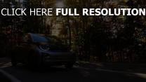 herbst bmw auto bewegung bäume vorderansicht