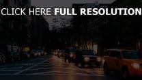 licht autos nacht straße