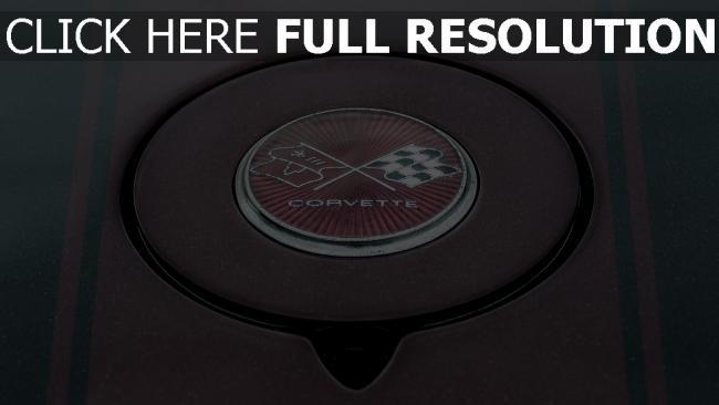 hd hintergrundbilder logo chevrolet corvette