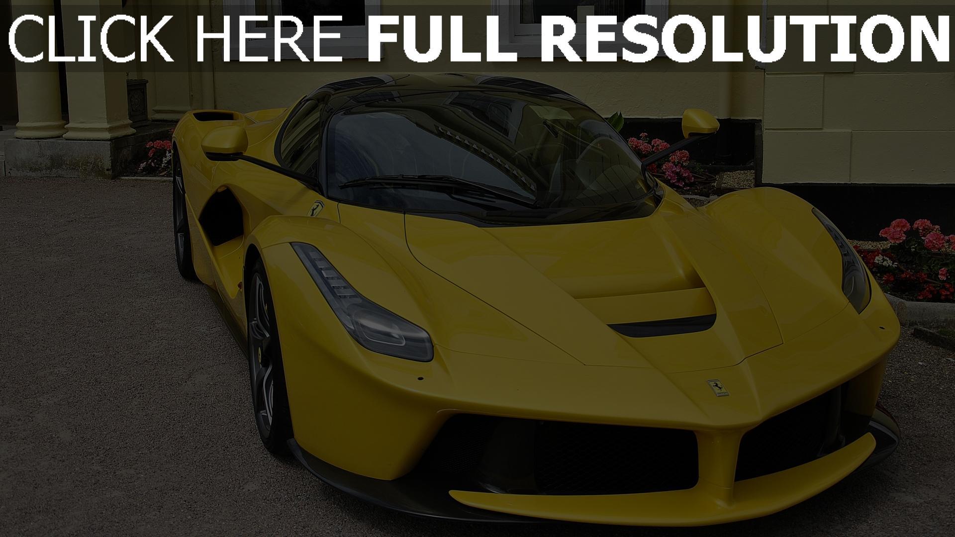 Hd Hintergrundbilder Sportwagen Ferrari Vorderansicht