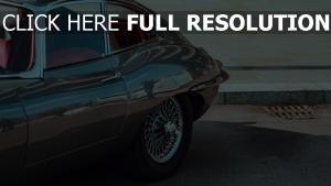 jaguar retro seitenansicht