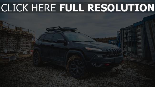 hd hintergrundbilder schlamm jeep suv seitenansicht