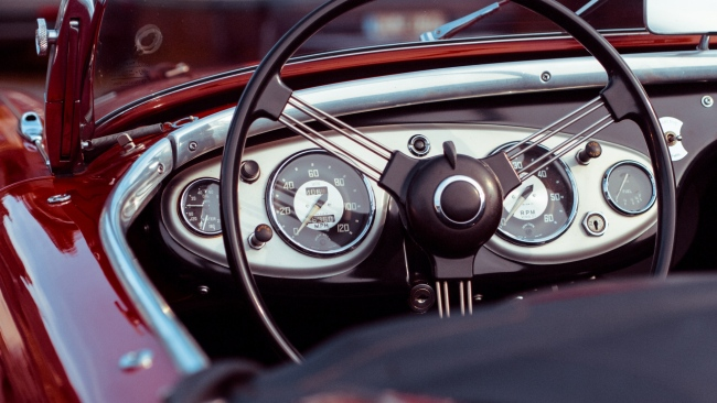 hd hintergrundbilder oldtimer lenkrad auto kabrio tacho