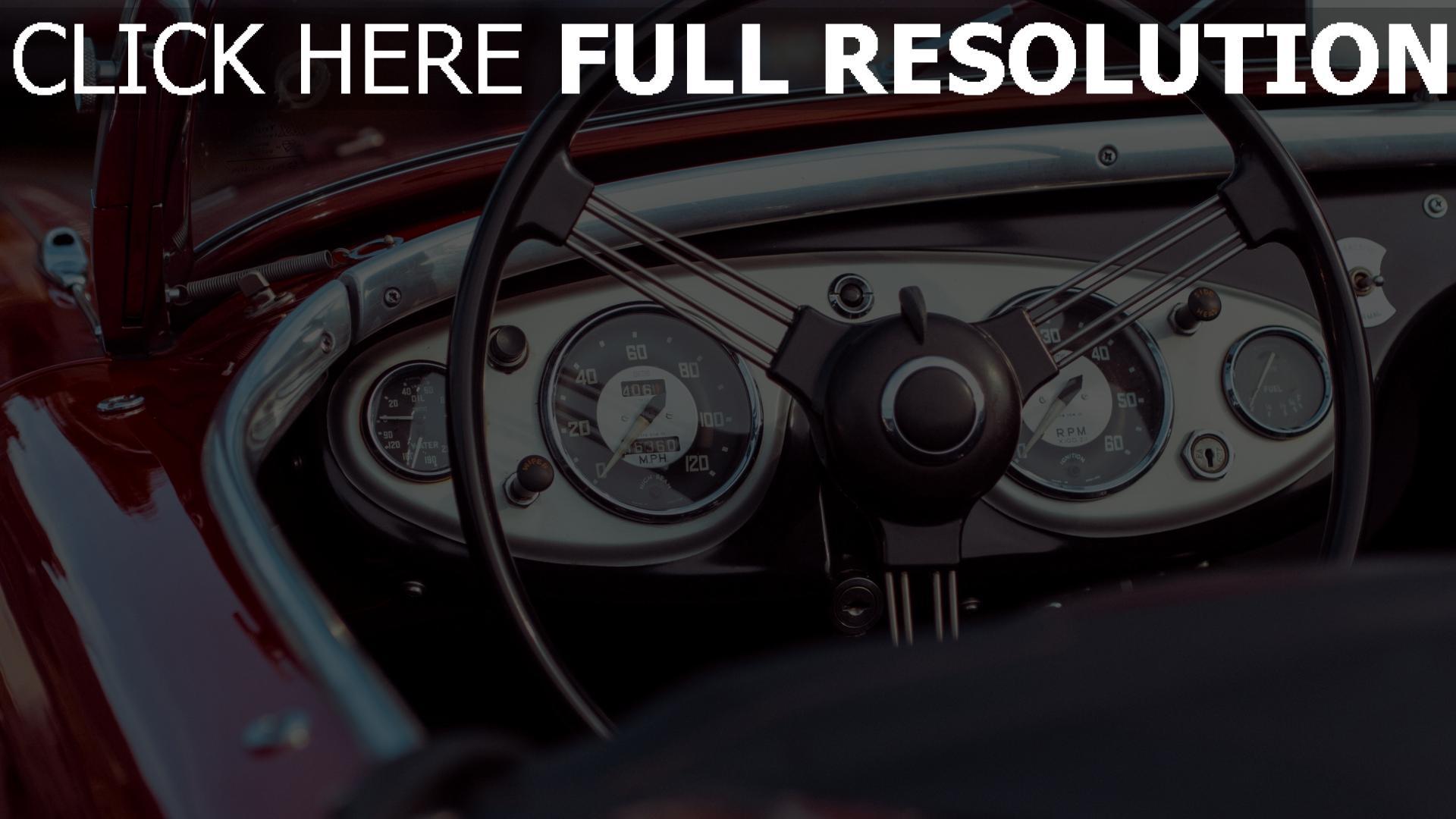 hd hintergrundbilder oldtimer lenkrad auto kabrio tacho 1920x1080