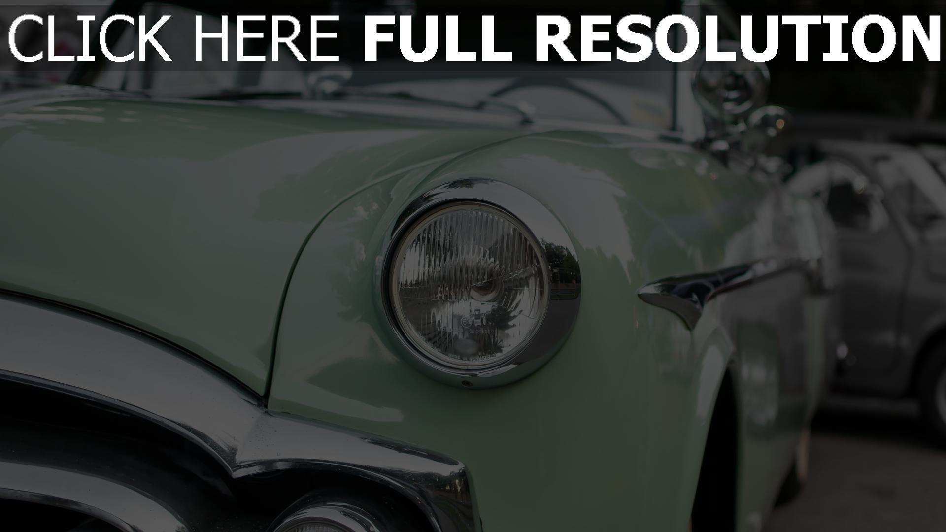 hd hintergrundbilder retro scheinwerfer auto oldtimer 1920x1080
