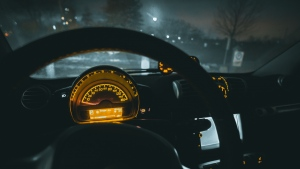 lenkrad auto tachometer nacht