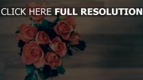 strauß rosen rosa blätter blüte