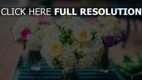 blumensträuße hell rosen hortensien sanft