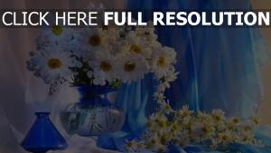 gänseblümchen blumenstrauß weiß vase zusammensetzung