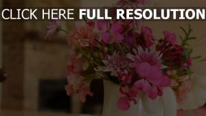 blume krug chrysantheme gerbera close-up