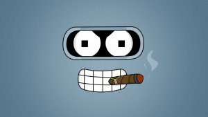 futurama bender zigarre augen