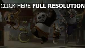 kung fu panda po schlange affe tai lung