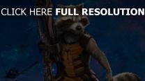 guardians of the galaxy rocket waschbär waffe