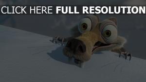 scrat ice age zähne schnee