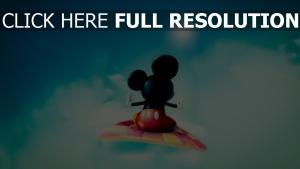 mickey mouse teppich fliegen himmel