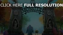 die monster uni mike sullivan einfahrt eingang