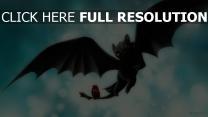 ohnezahn drachen flügel flug