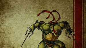 teenage mutant ninja turtles raphael maske art grafik