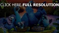 rio 2 papageien aras vögel familie