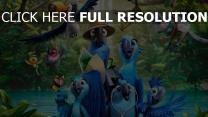 rio 2 papageien aras kompanie vögel