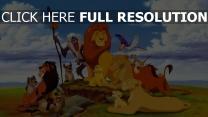 könig der löwen scar pumbaa rafiki familie disney hyänen nala timon zazu mufasa sarafina sarabi