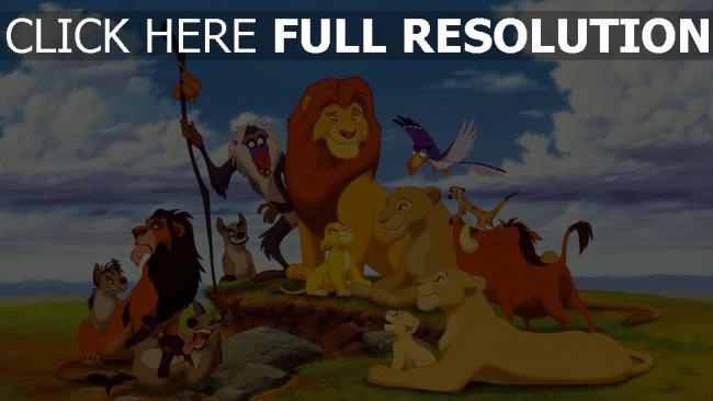hd hintergrundbilder könig der löwen scar pumbaa rafiki familie disney hyänen nala timon zazu mufasa sarafina sarabi