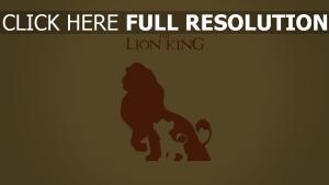 der könig der löwen silhouette minimalismus disney simba