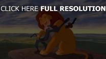 der könig der löwen disney simba rafiki königsfelsen das geweihte land