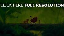 simba timon stamm der könig der löwen pumbaa grün disney dschungel