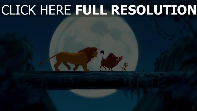 hd hintergrundbilder simba stamm dschungel pumbaa mond nacht der könig der löwen timon disney
