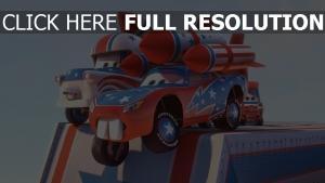 cars stunt lightning mcqueen disney rakete pixar hook