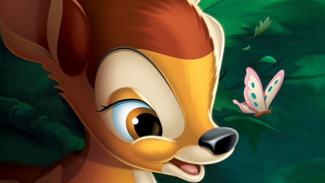 hd hintergrundbilder schmetterling disney bambi gesicht