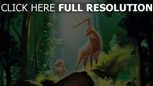 hd hintergrundbilder disney wald hirsch bambi