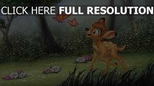 bambi blumen malerei disney schmetterling