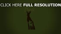 minimalismus disney silhouette bambi