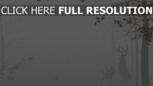 nebel silhouette disney wald bambi