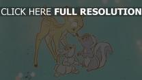 disney malerei blume klopfer bambi