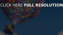 oben pixar luftballons disney himmel haus