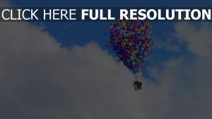 wolken luftballons himmel pixar disney oben haus