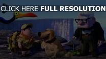 oben vogel dug disney kevin carl fredricksen russel hund junge pixar
