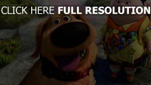 junge dug russel disney oben pixar hund