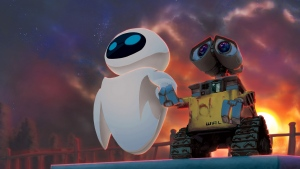 eve wall-e disney pixar paar sonnenuntergang