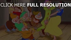 schneewittchen und die sieben zwerge sieben zwerge disney tanz schneewittchen